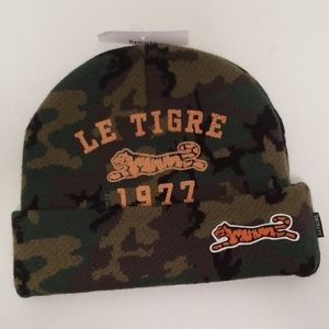Le Tiger Men's Camouflage Knit Beanie Hat New!!